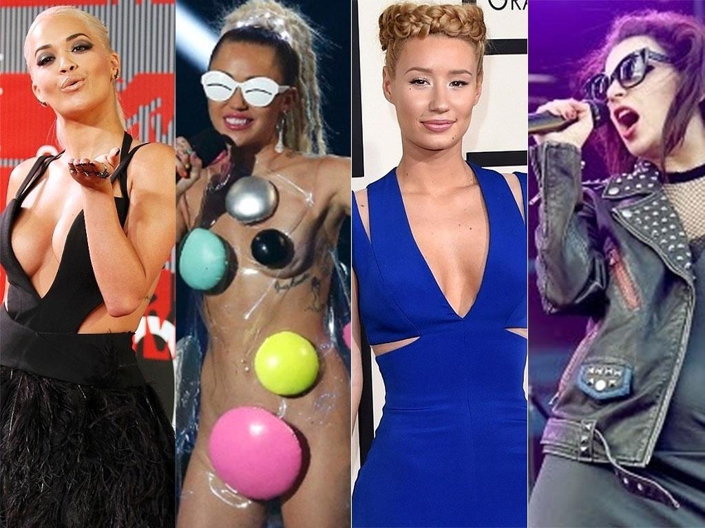 Rita Ora, Miley Cyrus, Iggy Azalea e Charli XCX