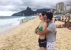 Sérgio Malheiros beija Sophia Abrahão e comemora ter transformado a atriz em carioca - Reprodução/Instagram/@sergio_malheiros