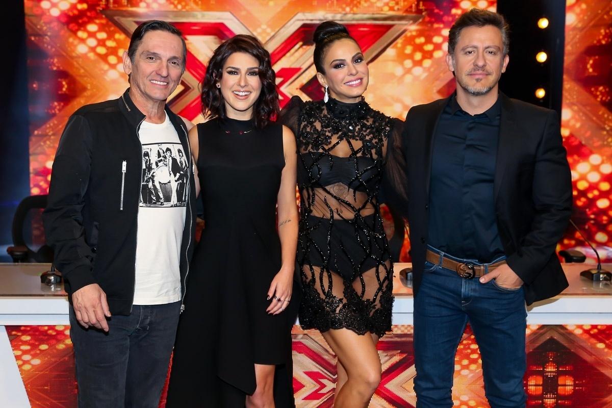 16.ago.2016 - Paulo Miklos, Fernanda Paes Leme, Alinne Rosa e Rick Bonadio no lançamento de