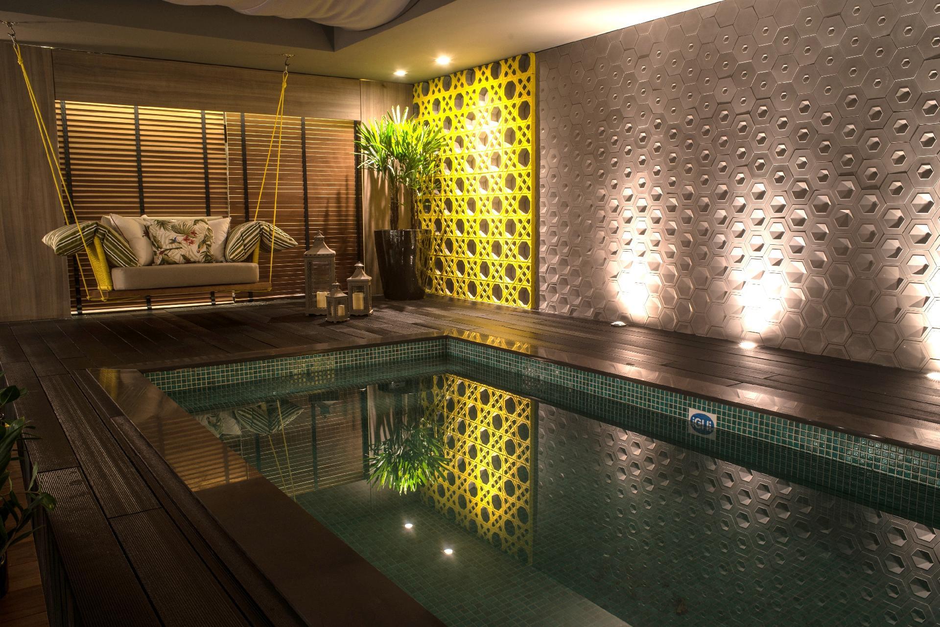 Casa Cor MT 2016 - Foi-se o tempo em que ambientes de relaxamento como piscinas e saunas seguiam todos o mesmo padrão