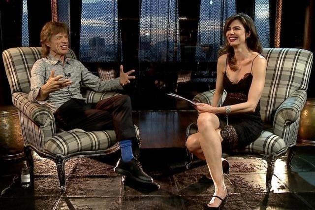 2.mar.2015 - Luciana Gimenez entrevista Mick Jagger no