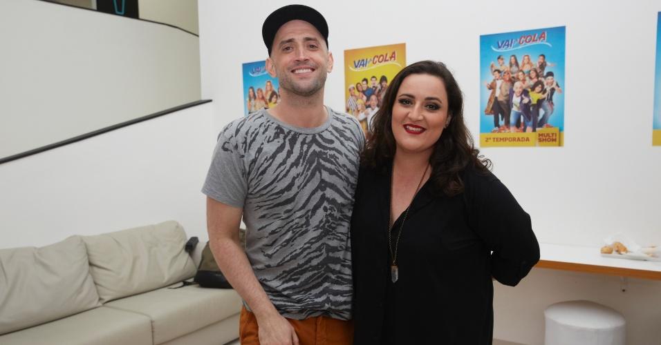Paulo Gustavo e sua irmã, Juliana Amaral, nos bastidores da gravação da terceira temporada de