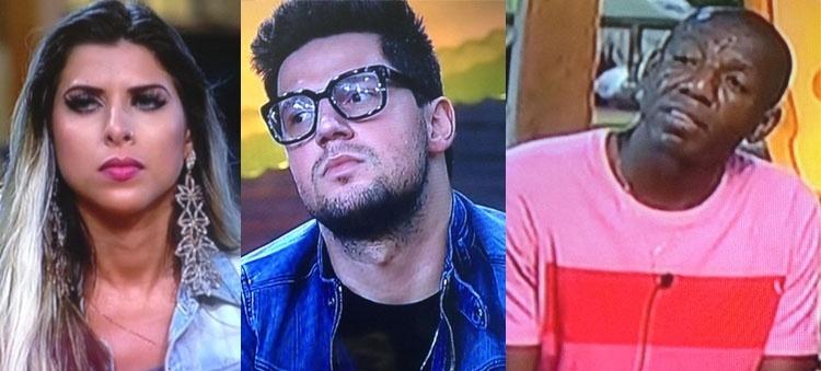 29.set.2015 - Os peões Ana Paula Minerato, Thiago Servo e Amaral estão na primeira roça de