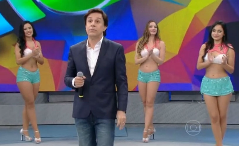 21.jun.2015 - Tom Cavalcante no Domingão do Faustão