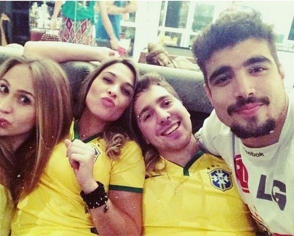 Giovanna Venditto e Caio Castro assistiram juntos vários jogos do Brasil do Mundial 2014