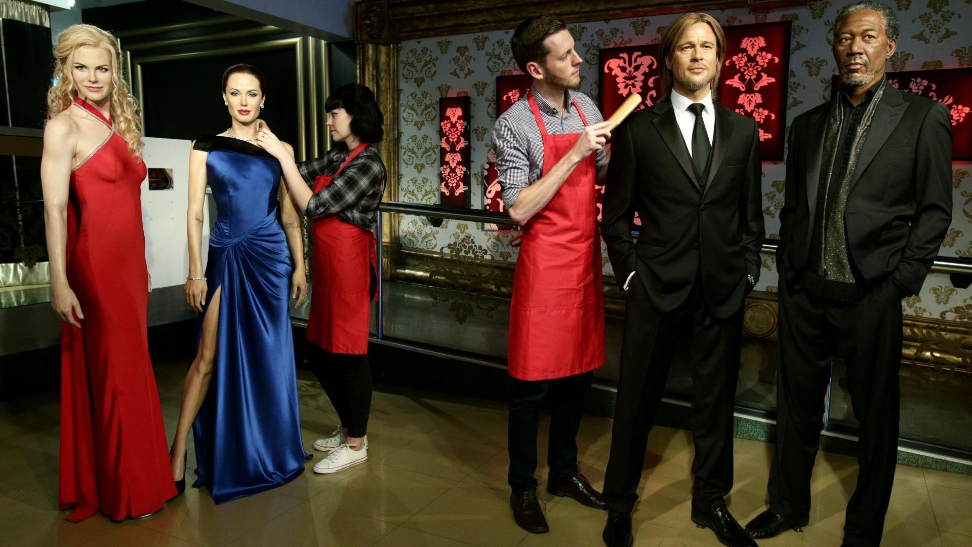 21.set.2016 - Museu Madame Tussauds de Londres separou as estátuas de Brad Pitt e Angelina Jolie