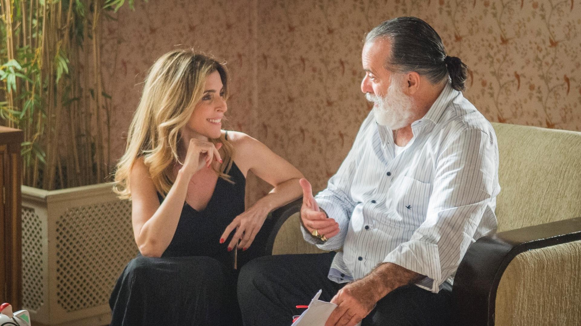 10.dez.2015 - Deborah Evelyn e Tony Ramos, Kiki e Zé Maria, em