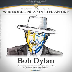 Resultado de imagem para bob dylan premio nobel de literatura