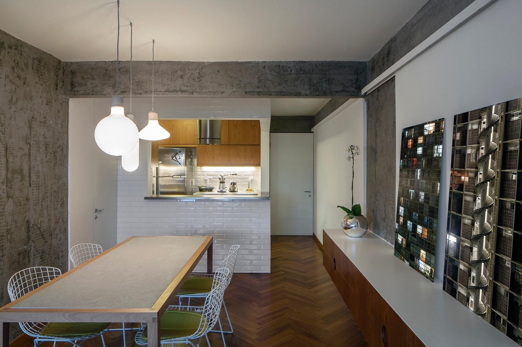 do apartamento ft de 90m2 foi totalmente integrado para uso de  #936E38 1772 1181