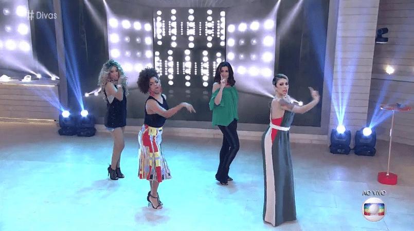6.out.2016 - Fátima Bernardes dança