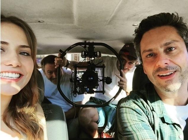 11.jul.2-015 - Em ritmo intenso de filmagens, Alexande Nero grava cenas de