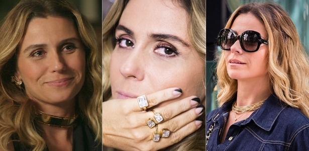 """Gargantilha, anéis e óculos de Atena, a vilã de """"A Regra do Jogo"""", fizeram sucesso em setembro"""