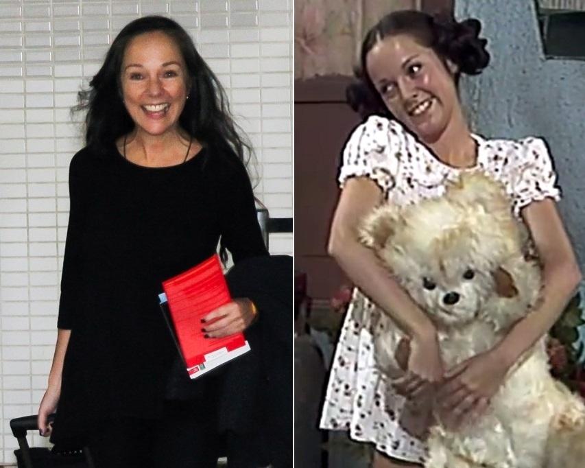 """13.mai.2016 - Intérprete de Paty na série """"Chaves"""", Ana de la Macorra desembarcou no aeroporto de Guarulhos (SP), em sua primeira visita ao Brasil, para um encontro com fãs do humorístico, exibido pelo SBT, e o ex-colega Edgar Vivar (Sr. Barriga). A mexicana de 59 anos começou como assistente de produção e virou a """"namorada"""" de Chaves no programa, porém desistiu da carreira na TV e, 37 anos após sua saída de """"Chaves"""", trabalha como psicóloga"""