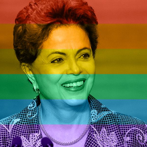 26.jun.2015 - O foto do perfil oficial da presidente Dilma Rousseff ficou mais colorido depois que aderiu à comemoração da legalização do casamento gay nos Estados Unidos