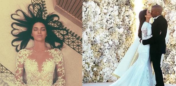 Kendall Jenner superou a meia-irmã, Kim Kardashian, em foto mais curtida no Instagram