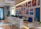Iluminação estratégica e cores deixam apartamento pequeno mais moderno (Foto: Raul Fonseca/Divulgação)