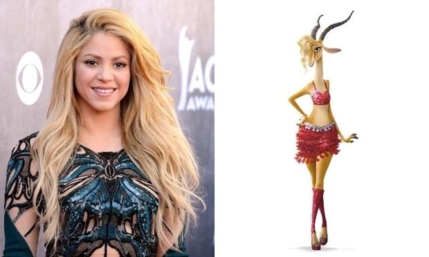 A cantora Shakira, que dublará personagem Gazelle em Zootopia
