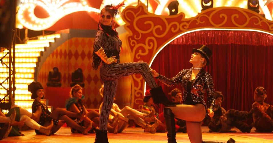 Alinne Moraes e Letícia Colin dividem o palco no Unicirco, do ator Marcos Frota