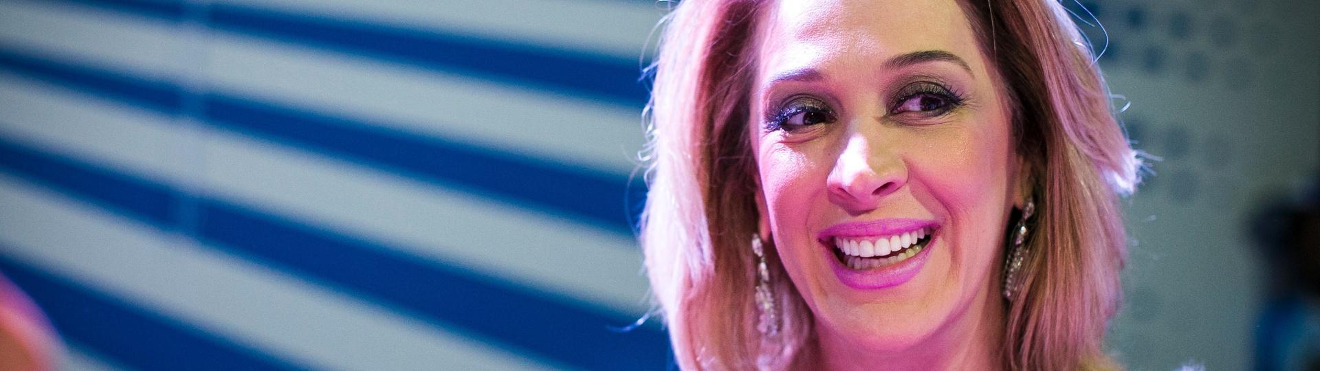 25.jan.2016 - A atriz Claudia Raia na quadra da escola de samba Nenê de Vila Matilde, da qual é tema no Carnaval 2016