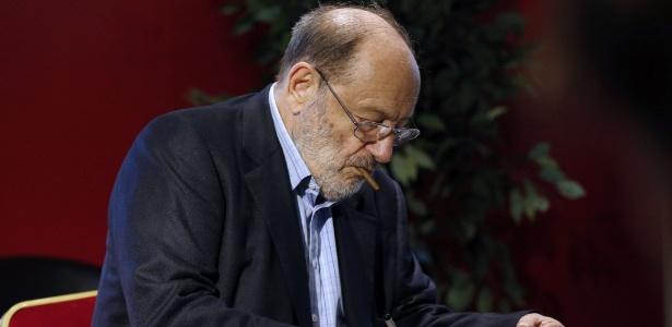"""Umberto Eco lançou seu último livro, """"Numero Zero"""", em 2015"""