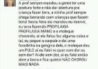 Conselho de Odontologia vai investigar caso de aluna que diz furar gengiva de criança que chora - Reprodução/Facebook