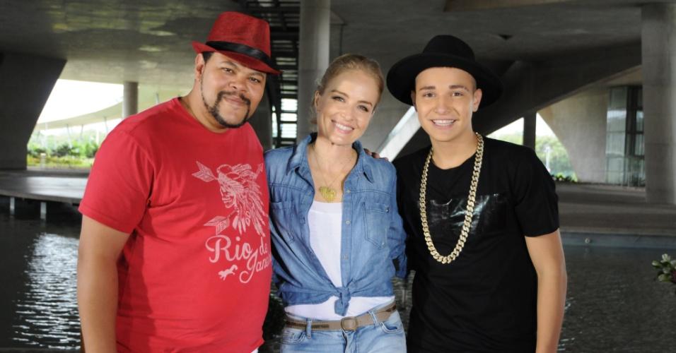 Angélica recebe Babu Santana e MC Gui no