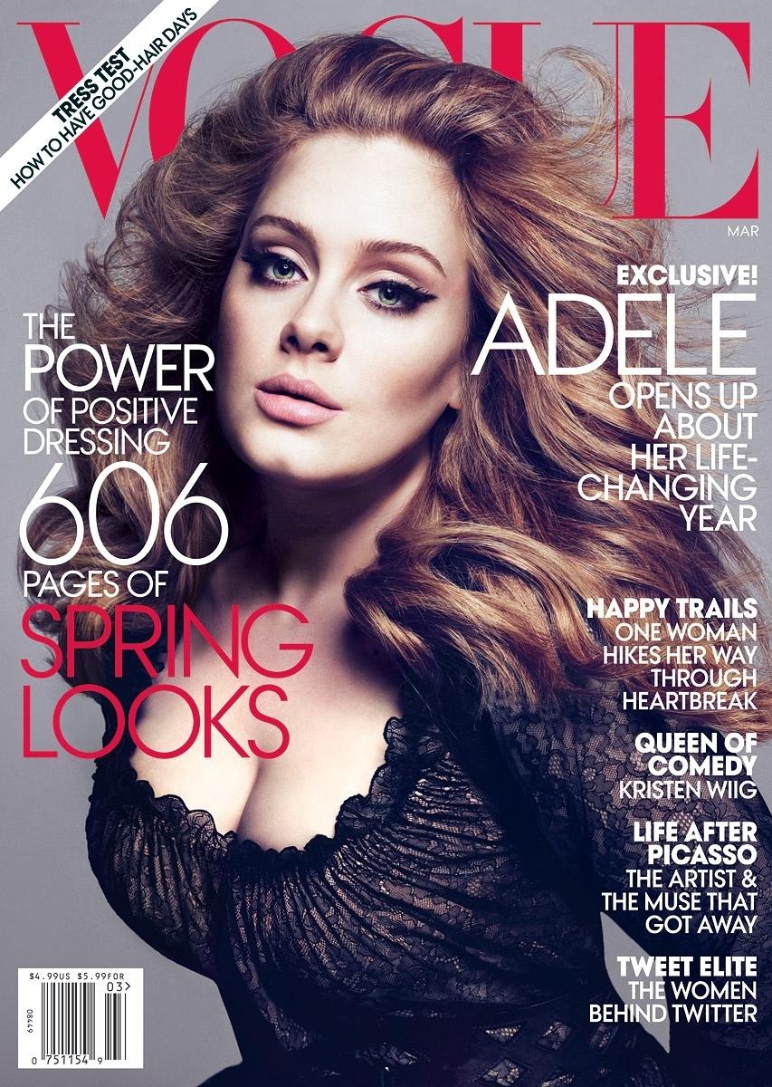 Adele em capa de março da revista