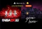 """""""NBA 2K16"""" e """"Gone Home"""" são destaques da PS Plus em junho - Reprodução"""