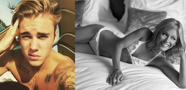 O cantor Justin Bieber publicou foto da apresentadora Kelly Ripa em seu Instagram