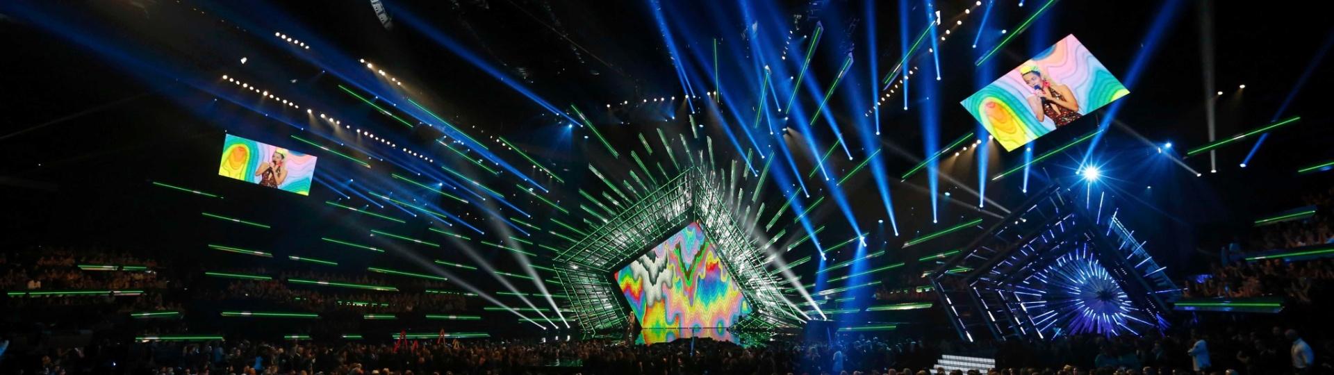 30.ago.2015 - Cenário do VMA 2015, em Los Angeles nos Estados Unidos