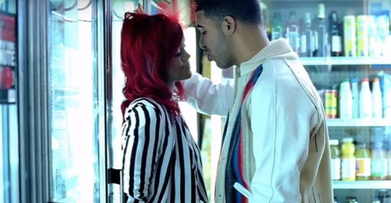 Rihanna e Drake contracenam no clipe de