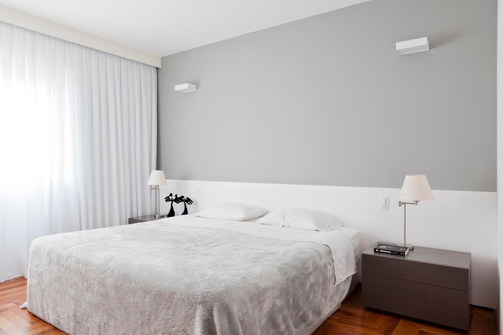 quarto do casal do apartamento de 160 m2 no Paraíso zona sul de  #67381F 1680x1120
