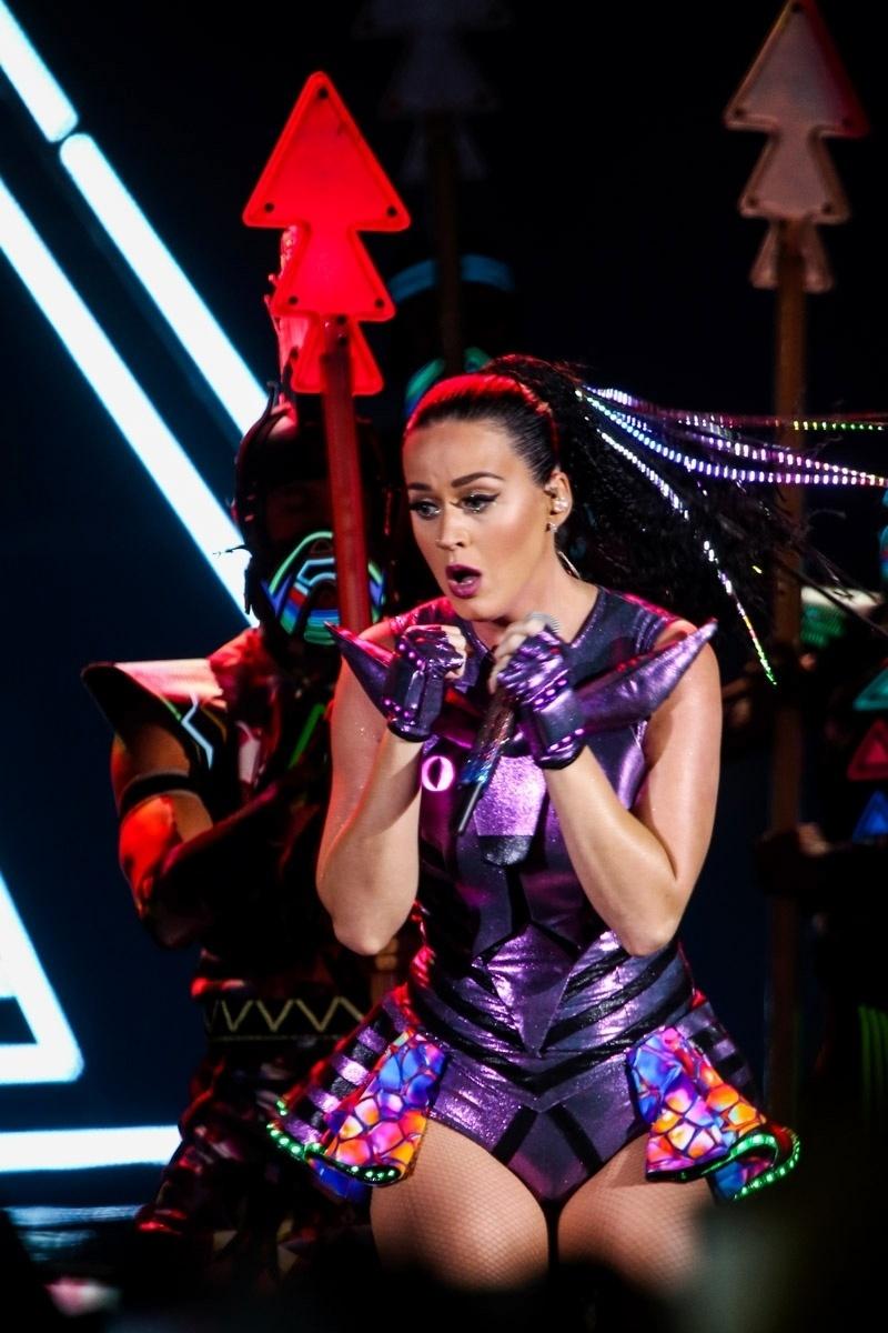 25.set.2015 - Katy Perry durante seu show em São Paulo, no Allianz Parque