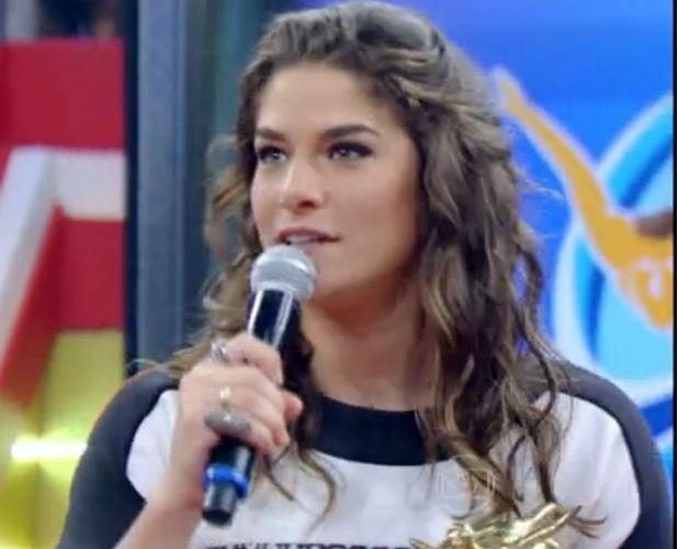 27.jun.2015 - Priscila Fantin na final do Saltibum