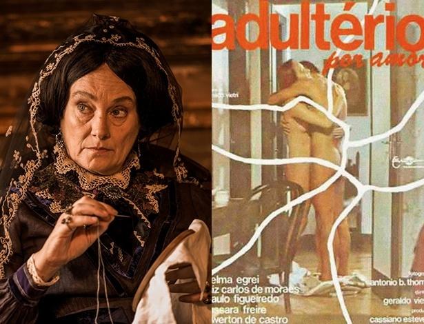 """Selma Egrei como a Encarnação e """"Velho Chico"""" e no filme """"Adultério por Amor"""""""