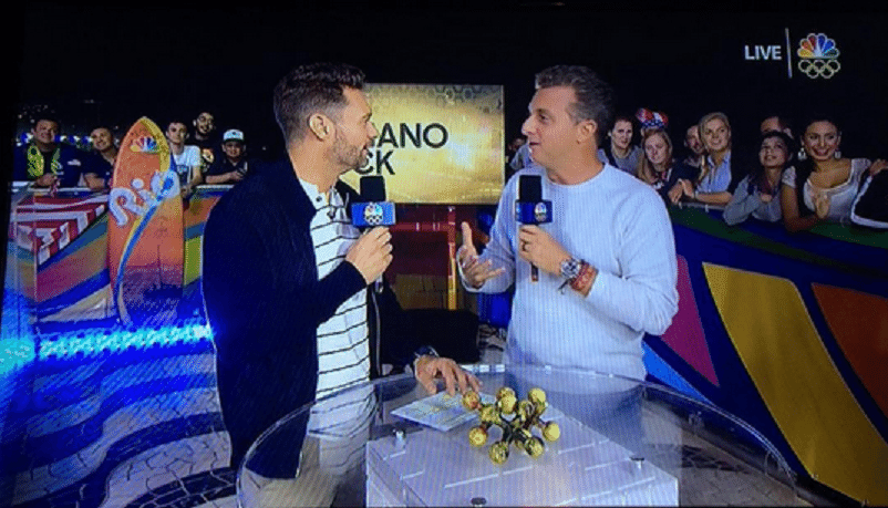 18.ago.2016 - Luciano Huck participa de programa na rede americana NBC