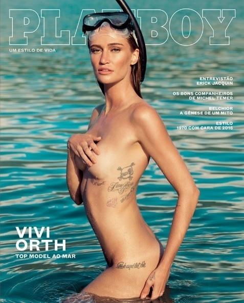 """Capa da """"Playboy"""", com a modelo Vivi Orth"""