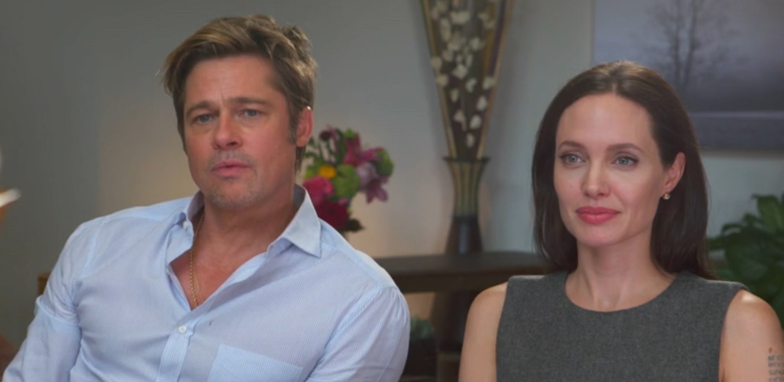 Brad Pitt e Angelina Jolie em entrevista para o programa