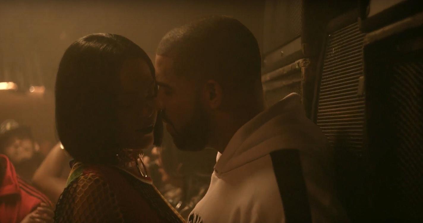 Rihanna e Drake em cena do clipe de