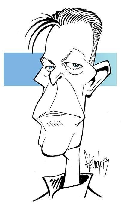 Após a morte de David Bowie, o artista Flavio Luiz Nogueira homenageou o cantor
