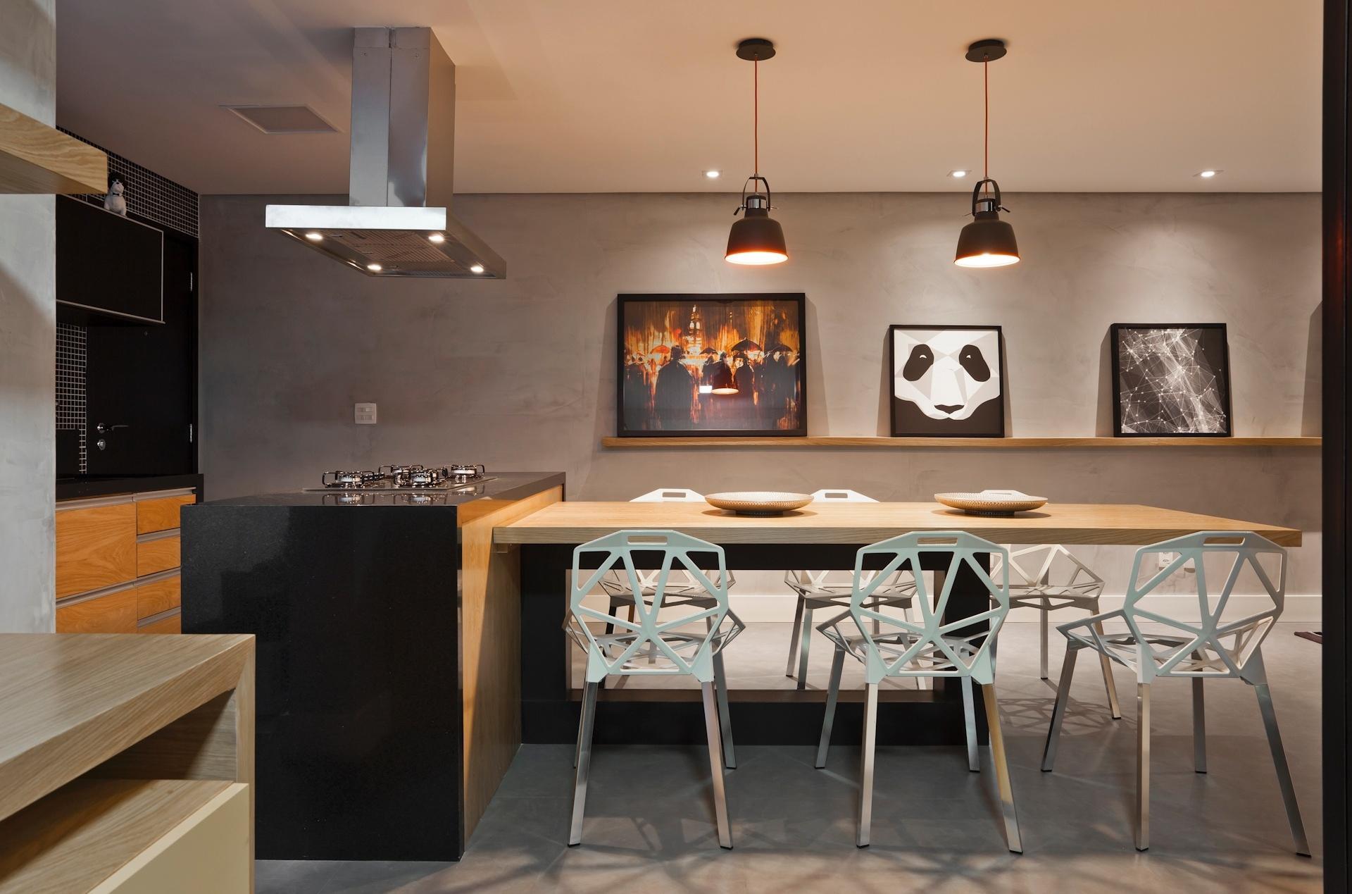 Cozinha Americana Com Mesa Embutida Oppenau Info