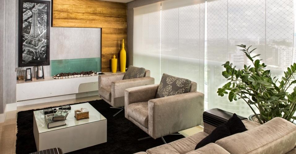 Sala De Tv Com Tapete ~ No projeto da designer de interiores Dinna Albuquerque, a sala de TV