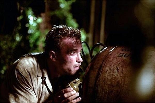 Arnold Schwarzenegger em cena de