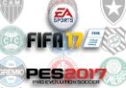 """""""FIFA 17"""" ou """"PES 2017"""": qual o melhor game de futebol do ano? - Montagem/UOL"""