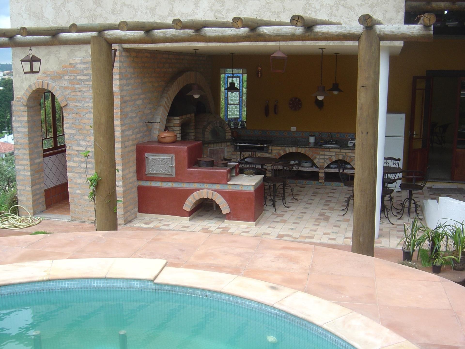Another Image For decorada com fogao a lenha churrasqueira e forno de  #41888A 1920 1440