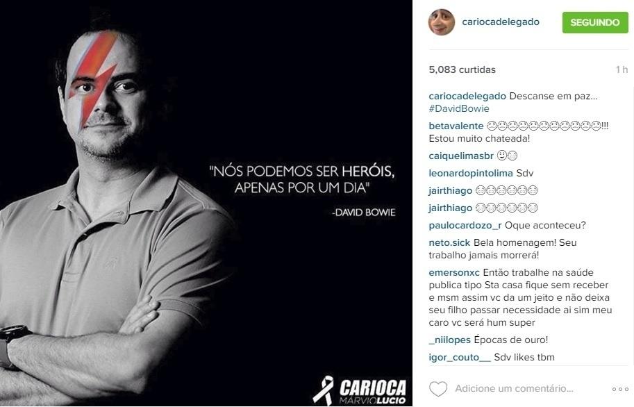 11.jan.2016 - Humorista Márvio Lúcio, o Carioca do