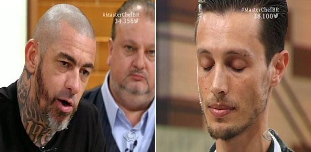 """Henrique Fogaça critica o molho barbecue preparado por Fábio no """"MasterChef"""""""