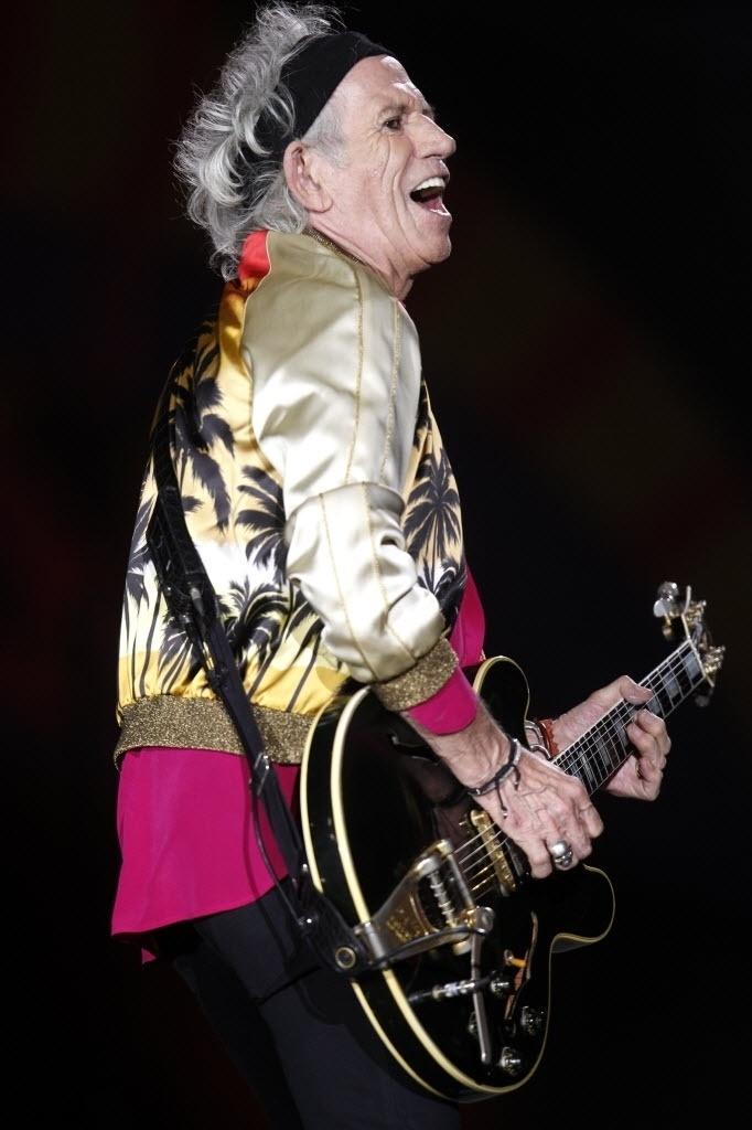 3.fev.2015 - Keith Richards se apresenta com os Rolling Stones no Chile, no primeiro show da turnê Olé, na América Latina