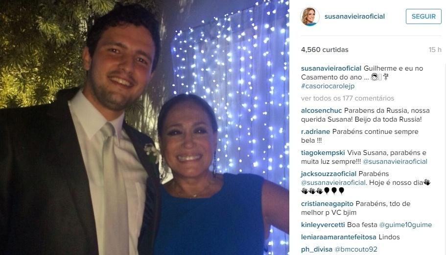 Susana Vieira publicou em seu Instagram uma foto com o advogado Guilherme Dornelas Vianna, de 26 anos