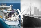 Conheça as diferenças entre o maior navio de cruzeiro do mundo e o Titanic - Montagem/UOL